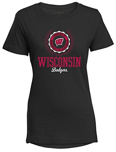 Womens Camp-shirt (Camp David Damen Bestie Perfect Woman Rundhalst Crewneck Tee, Damen, Bestie, schwarz)