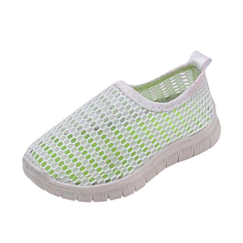 FNKDOR Jungen Mädchen Mesh Schuhe Geschlossene Wasserfest Sandalen Atmungsaktiv Wasserschuhe Badeschuhe (34, Weiß)