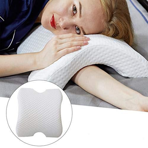 Nackenkissen Memory Foam Kopfkissen für Paar, Gewölbtes Orthopädisches Nackenstützkissen Seitenschläfer Schlafen