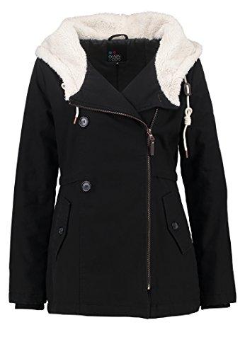Even&Odd Übergangsjacke Damen kurz - Parka für den Übergang in Schwarz, XS (Mantel Für Frauen, Canada)