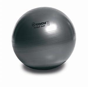 Togu Gymnastikball My-Ball Soft, anthrazit, 75 cm, 418755