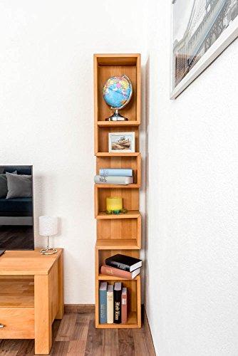 Regale Hardware (Regal Wooden Nature 130 Buche massiv - 180 x 25 x 18 cm (H x B x T))