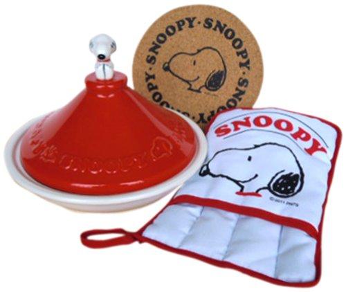 ARTCULOS-SNOOPY-SET-RED-Snoopy-tajine-olla-manopla-corcho-ajustado-SNC-3TR-CM-Japn-importacin-El-paquete-y-el-manual-estn-escritos-en-japons