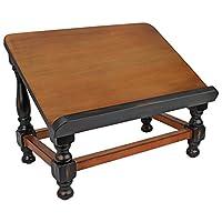 Design Toscano St. Thomas Aquinas Gothic Decor Wooden Bookstand Library Display Stand, 109.25 cm, Hardwood, Walnut Finish