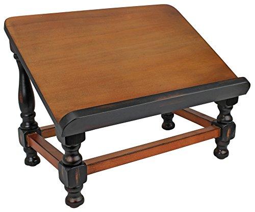 Design Toscano Antiquarische Buchstaffelei aus Holz, 25,5 x 38 x 29 cm - Holz-designs-buch