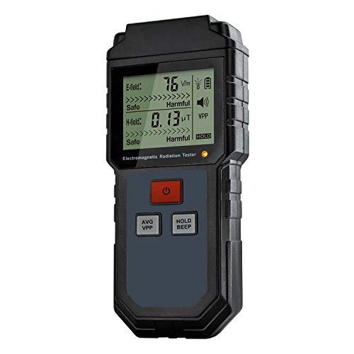 TOOGOO Misuratore Di Misuratore Di Lcd Con Dosimetro Digitale Misuratore Portatile Con Contatore Di Campo Elettromagnetico Emf Misuratore Per Il Telefono
