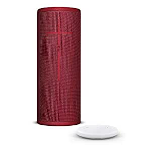 Amazon Echo Input, Bianco + Altoparlante Bluetooth wireless Ultimate Ears BOOM 3, Rosso
