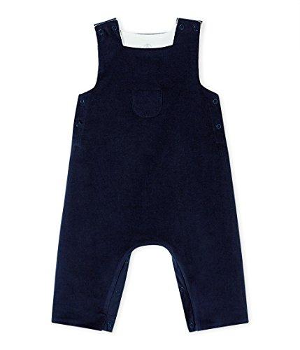 Petit Bateau Baby-Jungen Latzhose Salopette Longue_4408303, Blau (Smoking 03), 80 (Herstellergröße: 12M/74cm)