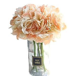 KIRIFLY Flores Artificiales,Plantas Artificiales Ramo Flores Hortensia Decoracion Casa Jardin Cumpleaños Boda Fiesta…