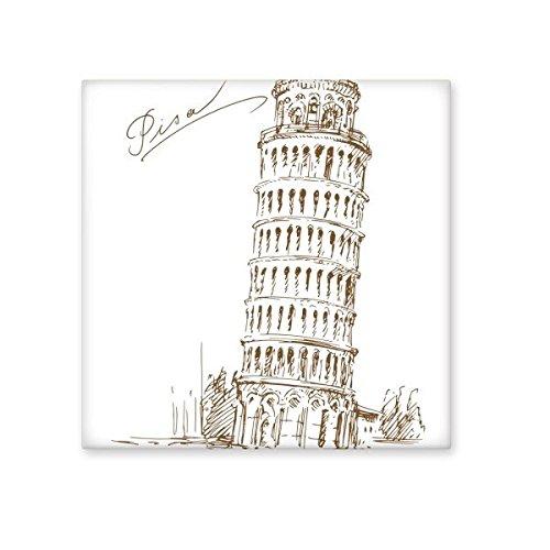 Keramik Schiefer Fliese (DIYthinker Schiefer Turm von Pisa Italien Pisa Zeichen Muster Keramik Bisque Fliesen für Dekorieren Badezimmer-Dekor Küche Keramische Fliesen Wandfliesen L)
