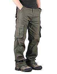 Closoul Direct Uomo Pantaloni Cargo Pantaloni Tattici Militari Uomo, Pantaloni da Lavoro Uomo per Uso Stagioni Casual, Sport, Viaggio di Cotone