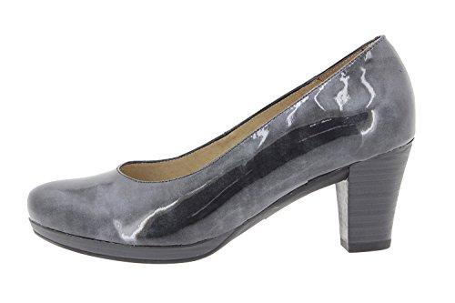 Scarpe donna comfort pelle PieSanto 9301 scarpe con tacco comfort larghezza speciale Gris