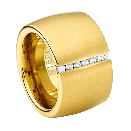 heideman ars gratia artis Steel_Art Ring Lines vergoldet DE 62