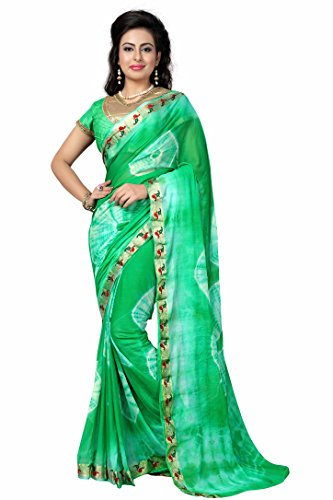 Woman style Woman's Nazneen jacquard Mango Green Sarees with Art Silk & Bhagalpuri blouse