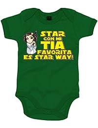 Body bebé Star Wars Star con mi tia favorita es Star Way Princesa Leia