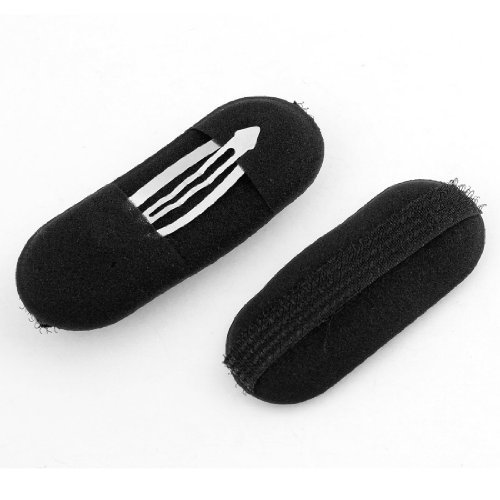 2 Pcs Black Sponge Hair Clip Volume Bumpit Padding Bun Updo  available at amazon for Rs.150