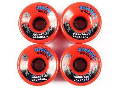 Bigfoot Big Foot Longboard Wheels Mountain Crushers Orange 76mm/83a Wheel Set Rollen Skateboard Cruiser