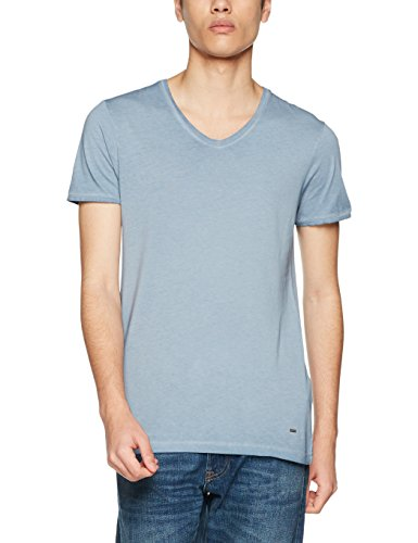 BOSS Casual Herren T-Shirt Trace Blau (Open Blue 463)