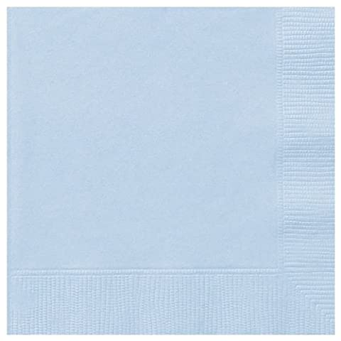 Baby Blue Luncheon Napkins 50's by Tableware