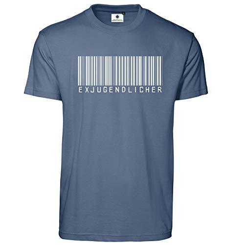 Customized by S.O.S Bedrucktes Herren Fun T-Shirt Exjugendlicher (XL, Indigo)