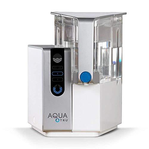 Sistema de purificación de filtro de agua para encimera AquaTru con tecnología exclusiva de ósmosis inversa de 4 etapas (sin necesidad de instalación o plomería) | Sin BPA