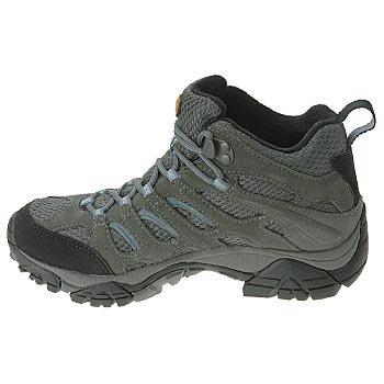 Merrell Moab Mid, Chaussures Bébé marche femme Gris - Grey/Periwinkle