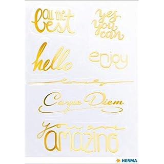 HERMA 15565 Creative Sticker Amazing Goldfolie für Kinder, Mädchen, Jungen, Hochzeit, Geburtstag, Geschenke, Fotoalbum, 7 Aufkleber
