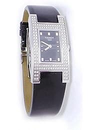 Armbanduhr Tissot Damen T11142551Quarz (Batterie) Stahl Quandrante schwarz Armband Leder