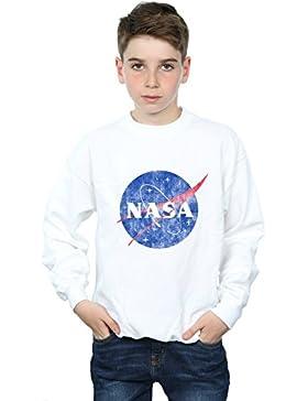 NASA Niños Classic Insignia Logo Distressed Camisa De Entrenamiento