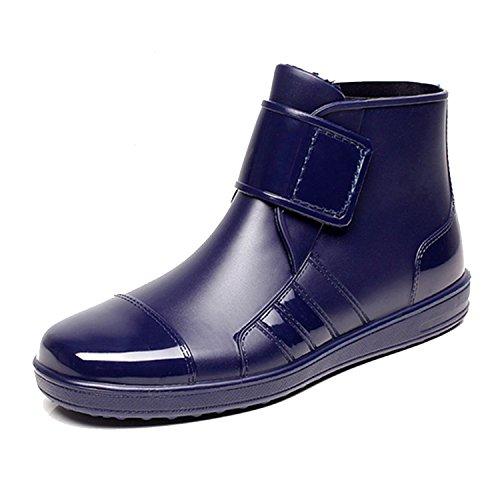ukStore ukStore Damen Herren Gummistiefel Regenstiefel Kurzstiefel Kurzschaft Regen Boots,Blau,42 EU