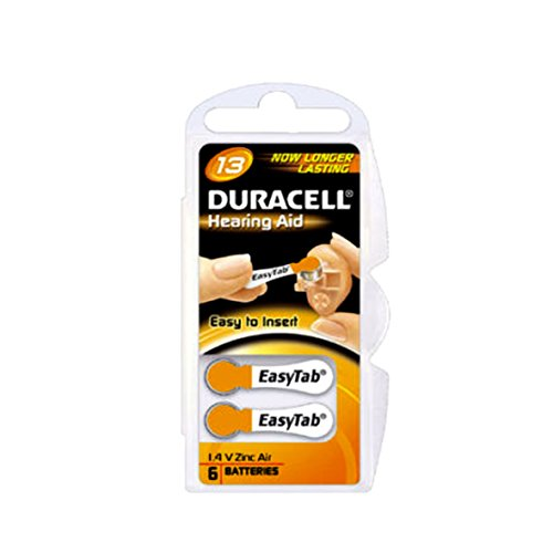 Duracell Easy Tab 13AT PR48 Zink-Air 6er-Blister