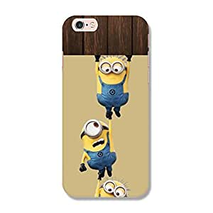 Hamee Original Designer Cover Thin Fit Crystal Clear Plastic Hard Back Case for iPhone 6 / 6s (Hanging Minions / Multicolour)