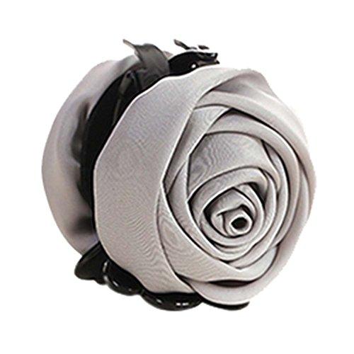 un Belles Clips Rose Fleur Cheveux Ponytail clip, gris