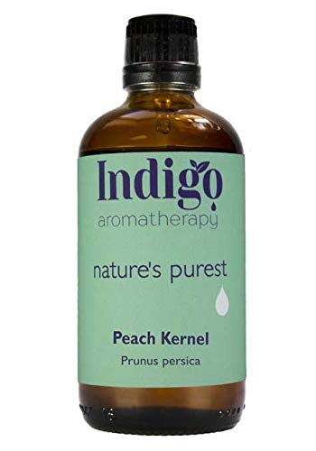 Indigo Herbs Pfirsichkernöl 100ml (Kaltgepresst) - 100% Rein, Natürlich -