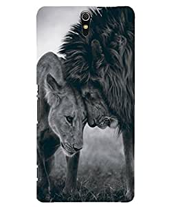 Citydreamz Lion\Love\Couple\Wild\Animals Hard Polycarbonate Designer Back Case Cover For Sony Xperia C5 Ultra Dual