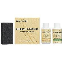 KIT cuero/piel MINI, con limpiador cuero suave Colourlock® para limpiar y mantener bolsos, maletas, guantes