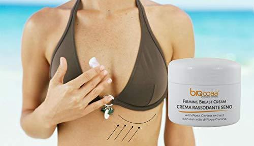 brust creme - spezifische Creme für die ästhetische Behandlung der Brust auf Basis von Pflanzenextrakten und Hyaluronsäure, Vitamin C und Vitamin E - hochwertigen Zutaten - ein professionelles Produkt ideal für Schönheitssalons, Wellness - Naturprodukt - made in Italy - 250 ml Format