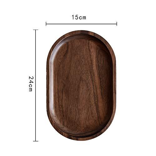 XLCLSA asda Assiette à gâteaux Ovale en Bois 24 cm * 15 cm pour Les gâteaux