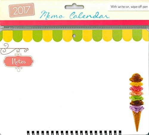 Tallon-2017a spirale Memo Calendario planner Organiser con Penna-3055gelato - Calendario Giorno Planner