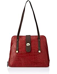 Hidesign SB Atria 03 Red Leather Women's Shoulder Bag (8903439339609)