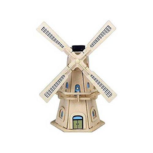 Weico 80144–Solaire bois Ensemble de moulin à vent