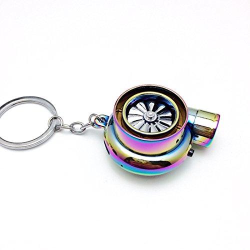 Etbotu Creative Elektrische Turbo Feuerzeug Schlüsselanhänger–Funny USB wiederaufladbare Zigarettenanzünder Schlüssel Ring mit LED Licht und Sound–Unique Design Cute USB wiederaufladbar Turbo Feuerzeug