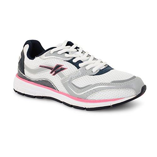 Gola Active Termas, leichtgewichtig, atmungsaktiv, Athletic Damen Sneaker Weiß / Pink