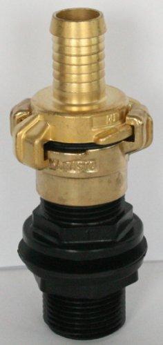 Amtdvn _ 100 + 101 Réservoir Implementing avec écrou 2,5 cm + Geka-brass-coupling Il 2,5 cm et Brass-coupling Convient pour SchiVo Vertrieb, avec flexible Bec ¾ \