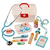 GUOGUO Arztköfferchen Doktor Set Kinderarztkoffer Arztkoffer mit 16 TLG Arzt Spielzeug für Kinder ab 3 Jahren (Rot)