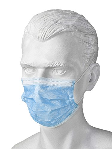 Arsa Medicare Anti-Dust Disposable Surgical Face-Mouth Cover Masks with Ear Loop, Pack of 50 (Blue)  available at amazon for Rs.178