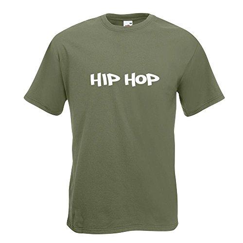 KIWISTAR - Hip Hop Musik Gangsta Style Rap Ghetto T-Shirt in 15 verschiedenen Farben - Herren Funshirt bedruckt Design Sprüche Spruch Motive Oberteil Baumwolle Print Größe S M L XL XXL Olive
