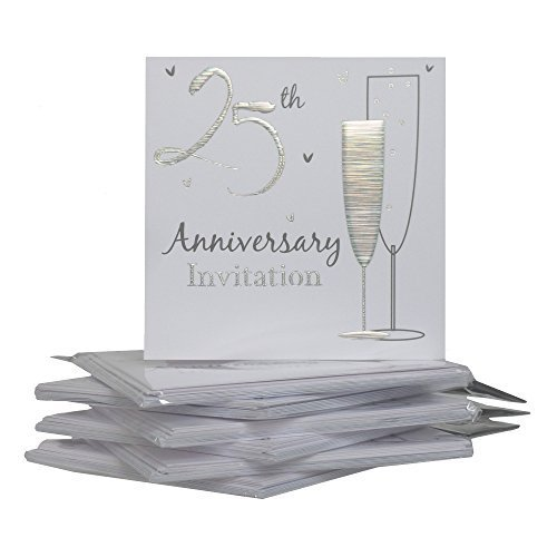 25th-Silver-Wedding-Anniversary-Party-Invitations-Holographic-36-Cards-with-EnvelopesP