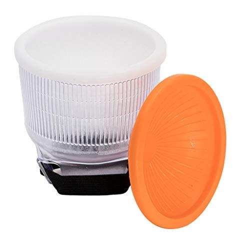 perfk Universal Flashbender Reflektor Blitzdiffusor Lambency Cloud mit 3Pcs Dome Cover (Weiß/Orange/Silber) für Aufsteckblitz