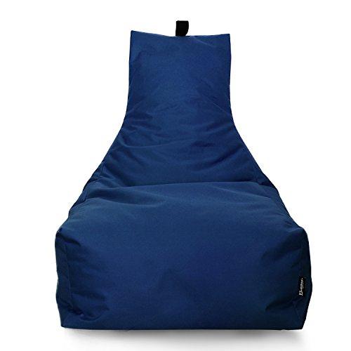 Marine-lounge-sitze (BuBiBag Sitzsack Lounge Sitzsack Sitzkissen XXL Tobekissen Bodenkissen Beanbag Kissen, für Kinder und Erwachsene (Dunkelblau/Marine))